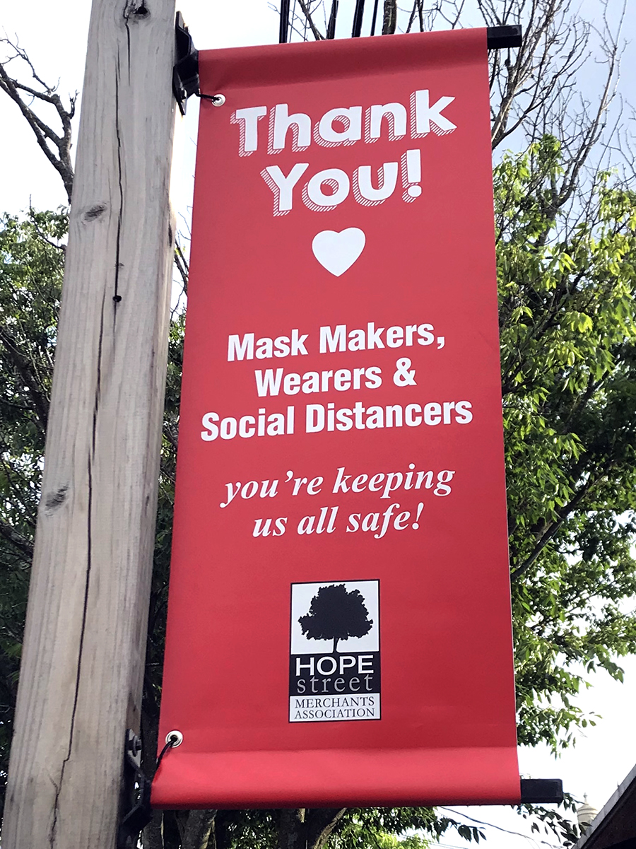Providence S Hope Street Displays Thank You Banners For Healthcare Workers And Others Rhode Island Monthly