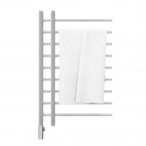 Bathroom Towel Heater Warmer Rail With Towel. 3d Rendering